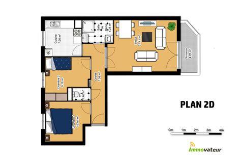 plan appartement 2 chambres appartement 2 chambres avec garage et balcon en plein cœur
