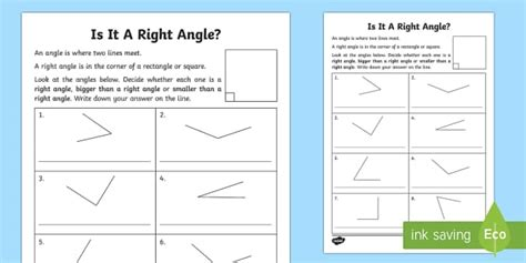 right angles worksheet worksheet maths numeracy angles right angles