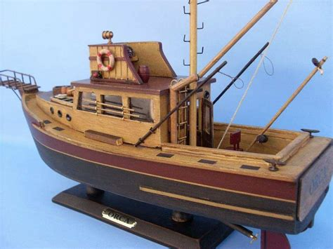 Orca Fishing Boat Plans by Buy Wooden Jaws Orca Model Boat 20 Inch Models Ships