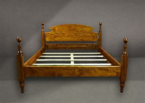 tiger maple cannonball bed king handmade  order beds