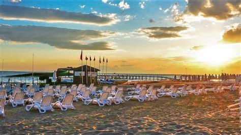 Türkei Urlaub. Am Strand von Side Evrenseki, Colakli ...
