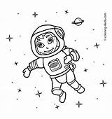 Astronaut Coloring Space Pages Drawing Printable Simple Outer Spaceman Line Astronauts 4kids Preschool Drawings Spaceship Diggs Printables Nasa Popular Getcoloringpages sketch template