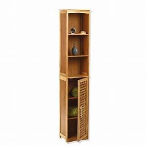 Meuble Salle De Bain Colonne : meuble colonne salle de bain bambou colonne eminza ~ Teatrodelosmanantiales.com Idées de Décoration
