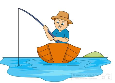 Boat On Lake Clipart by Wooden Fishing Boat Clipart Clipground