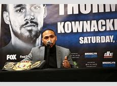 Photos Keith Thurman, Josesito Lopez Face To Face at