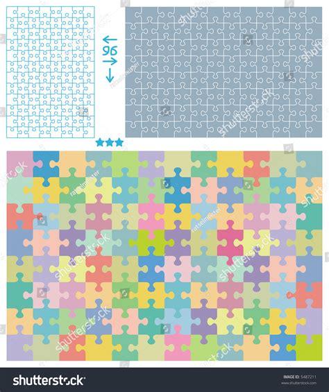 jigsaw puzzle blank templates vertical horizontal stock