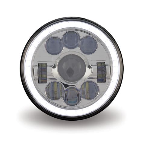 motorcycle led headlight combination high  beam