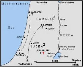 Missionary, Philip, Samaria, Ethiopian, Saul, Damascus