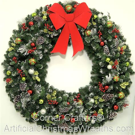 60 inch lighted outdoor christmas wreath 60 inch magic wreath cornercrafters 5 foot wreaths