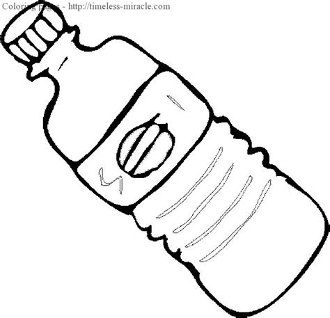 water bottle coloring page timeless miraclecom