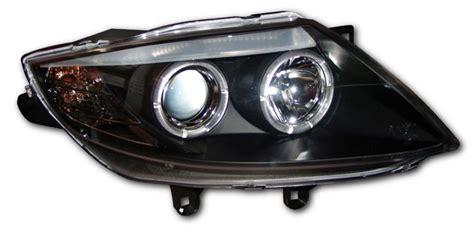 Bmw Z4 E85 03-08 Black Angel Eye Headlights