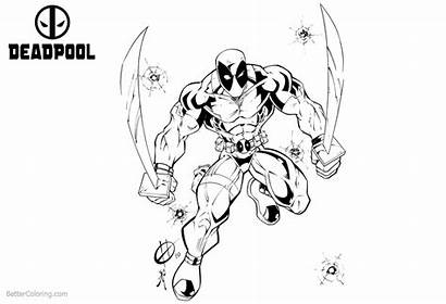 Deadpool Coloring Pages Fan Fiction Printable Adults