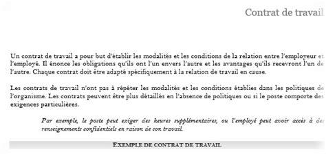 modele de contrat de travail consultant algerie modele contrat de travail document