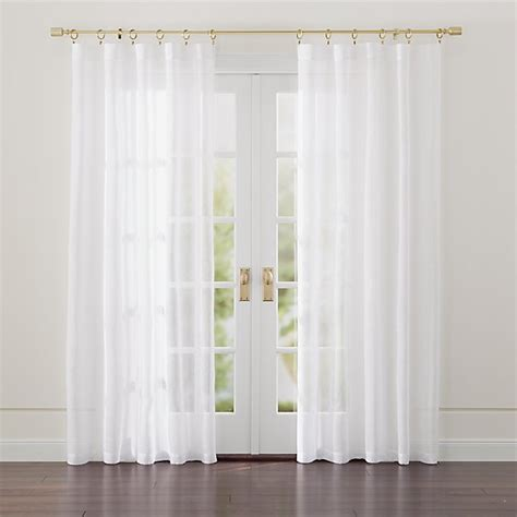 White Drapery by Linen Sheer White Curtains Crate And Barrel
