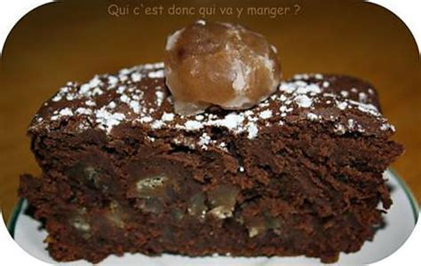 recette de fondant aux marrons et chocolat noir sans gluten et sans lactose
