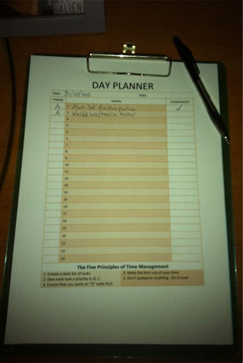 printable day planner template