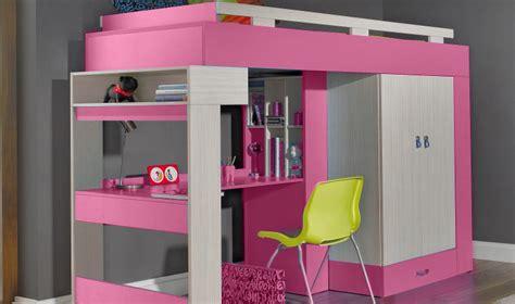 bureau pour lit lit combin surlev avec bureau et rangements vera