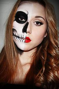 a few sparks: half skull face Perfect for trick or ...