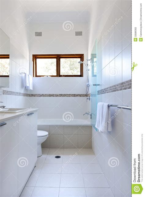 white bathroom tiles stock photo image  shower white