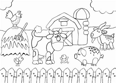 farm coloring pages fww