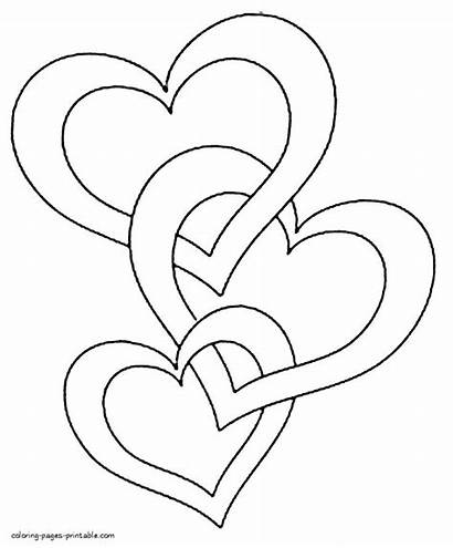 Heart Coloring Pages Printable Getcolorings