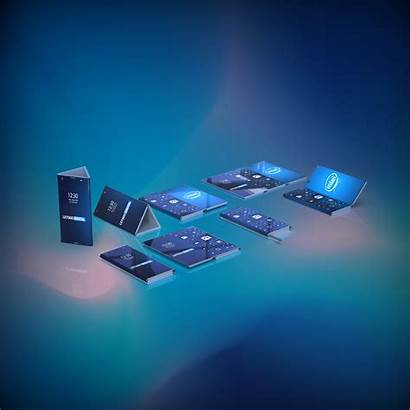 Intel Smartphone Doppelt Opvouwbare Letsgodigital Pliable Faltbares