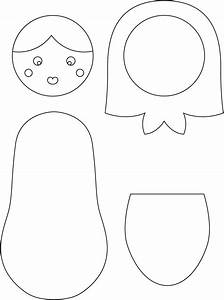 best photos of nesting doll template free printable With russian nesting dolls template