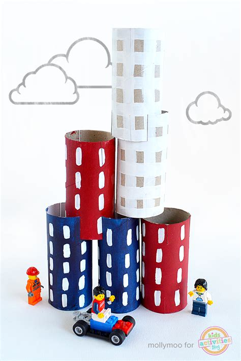 Toilet Roll Crafts City Build & Play Diy Stacking Toy