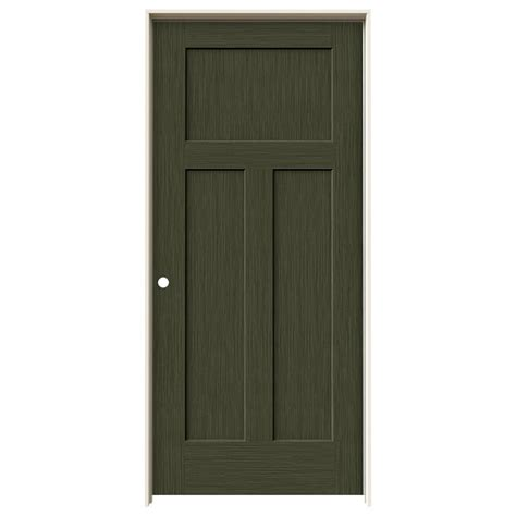jeld wen interior doors jeld wen 36 in x 80 in craftsman juniper stain right