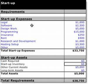 Getting investment key factor initial valuation bplans for Start up capital template