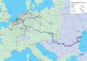 Navigable Rivers Europe Map