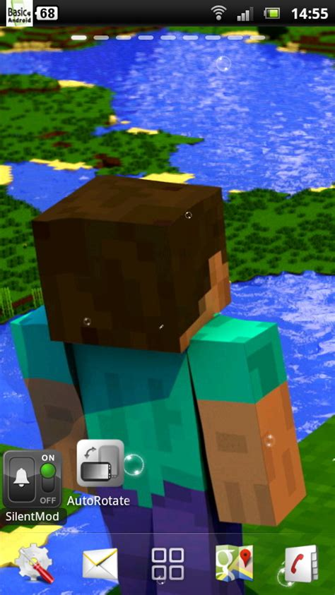 minecraft free android minecraft live wallpaper 3 free for android