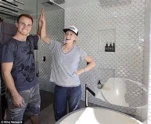 bathroom designs with walk in shower the block 2014 kyal and kara get marks on bathroom