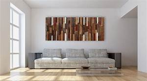 Wall art ideas design white background reclaimed wood for Wonderful living room wall art decoration