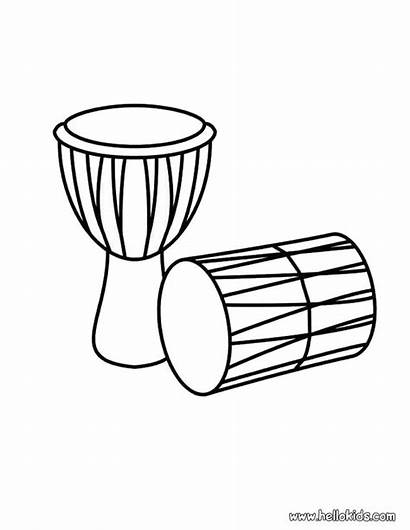 Drums Coloring Pages Drum Kwanzaa Clipart African