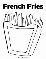 Coloring Fries French Pages Popular sketch template