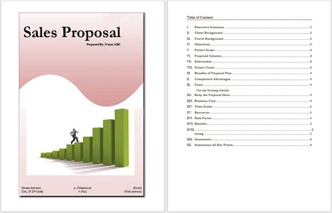 sales proposal template word templates