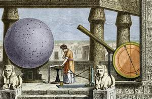 Ptolemy's observatory, 2nd century AD - Stock Image H416 ...