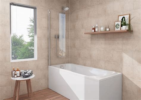 Tile Panels For Bathroom by Proplas Tile Decors Silver Travertine Tile Effect Pvc Wall