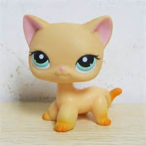 lps yellow cat littlest pet shop collection lps 339 yellow