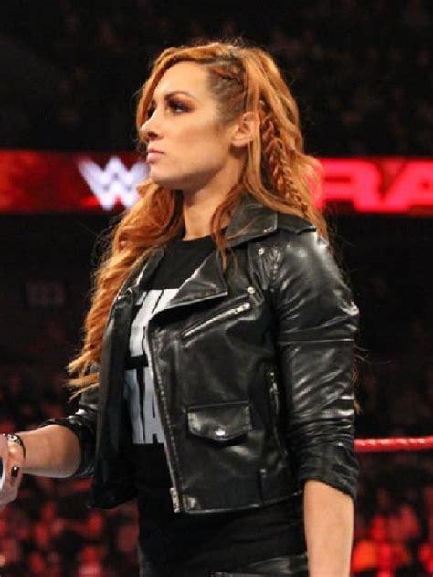 irish professional wrestler becky lynch leather jacket