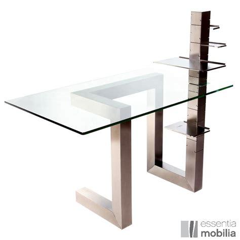 bureau design verre metal bureau de direction design en verre et inox brossé