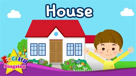 kids vocabulary house parts   house learn