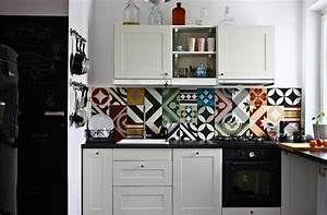 Dosseret de cuisine 10 inspirations for Kitchen colors with white cabinets with papier peint décoration murale