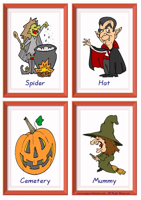halloween english worksheet  kids esl printable picture