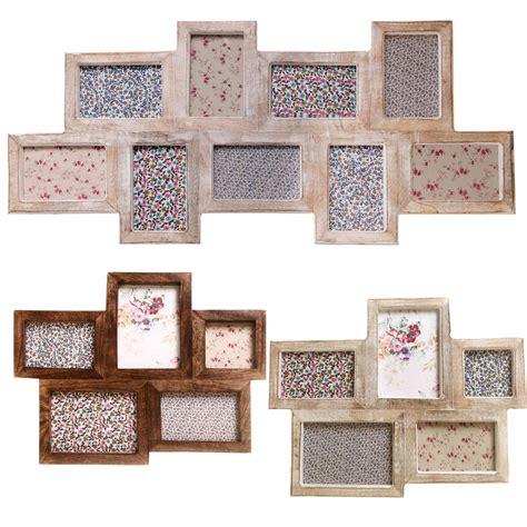 shabby chic multi photo frames large multi frames photo picture shabby wooden chic dark white limed wash vtg ebay