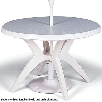 grosfillex us5267 46 quot umbrella ready ibiza table