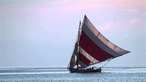 haitian fishing boat lateen sail youtube