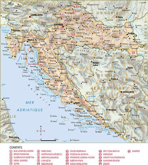 Carte Du Monde Croatie by Carte Croatie Carte Du Monde