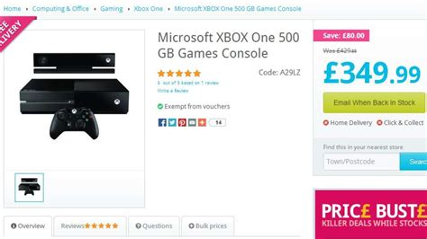 xbox one price uk retailer cuts xbox one price bringing it level with ps4 gamespot